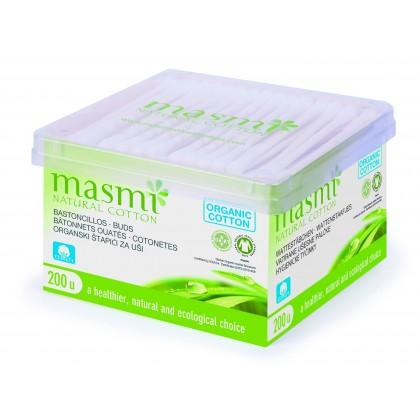 Masmi Økologiske bomullspinner (Q-tips)