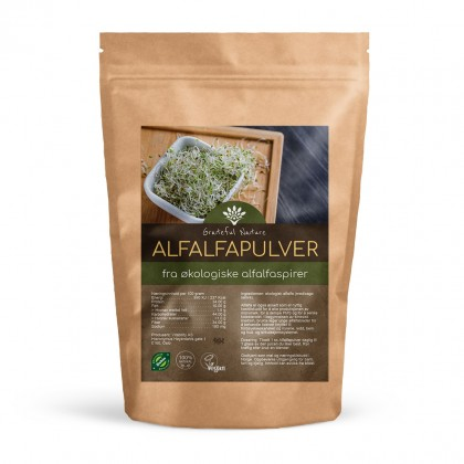 Alfalfapulver - Rå - Økologisk - 250 g