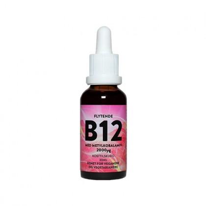Flytende høydose B12 - med metylkobalamin - 30ml - 2000ug