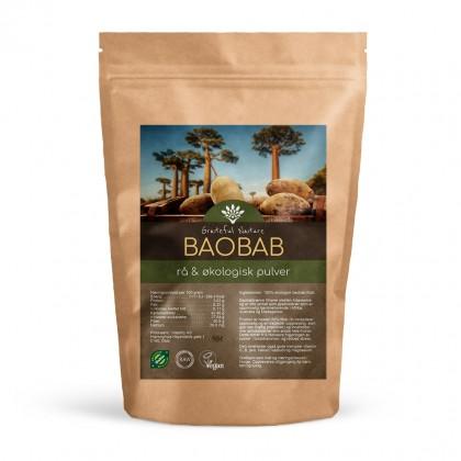 Baobab frukt - Pulver - Rå - Økologisk - 250 g