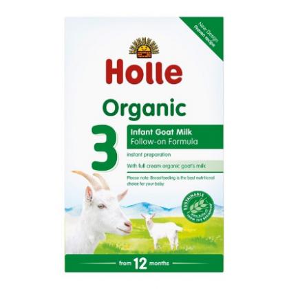 Holle - Tilskuddsblanding Geitemelk 3 - Økologisk morsmelkerstatning - 400g