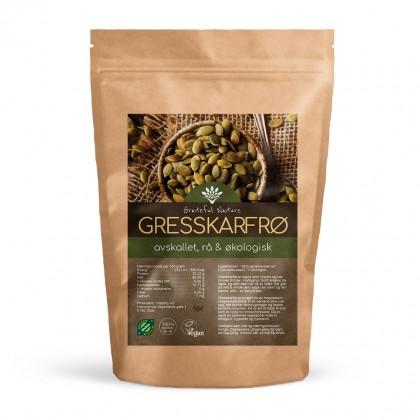 Gresskarfrø - Rå - Økologisk - 250 g