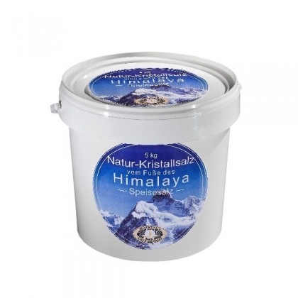 Himalayasalt 5 kg - Fingersalt, bad og sole, mat - 1-3 mm