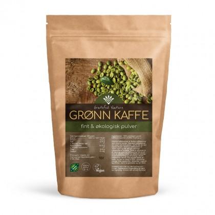Grønn Kaffebønne Pulver - Rå - Økologisk - 250 g