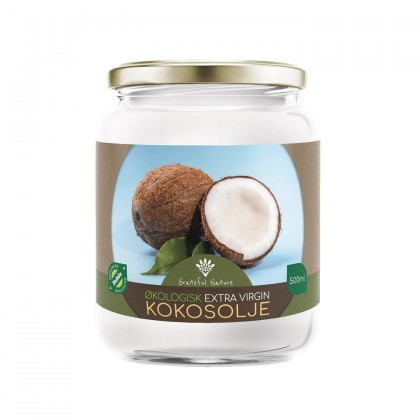 Kokosolje - Extra Virgin Coconut Oil - Økologisk - 500 ml