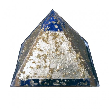 Orgonitt Power Pyramide - Gull - Orgonite