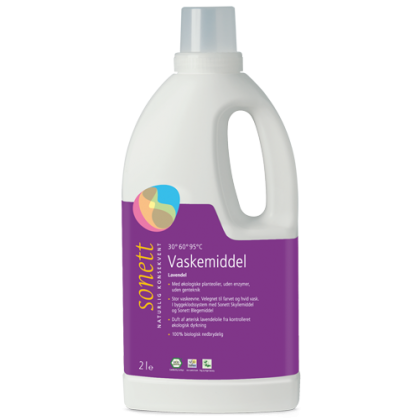 Vaskemiddel, tøy, lavendel, flytende, 2 l, økologisk, Sonett
