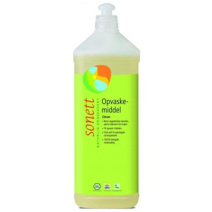 Sonett flytende økologisk oppvaskmiddel sitron, refill - 1 liter