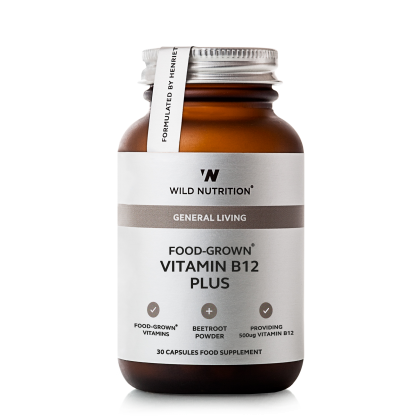 Food Grown - Vitamin B12 Pluss - 30 kapsler - Wild Nutrition