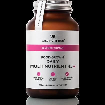 Abonnement - Food Grown - Daily Multi Nutrient for kvinner over 45 år – 90 kapsler - Wild Nutrition