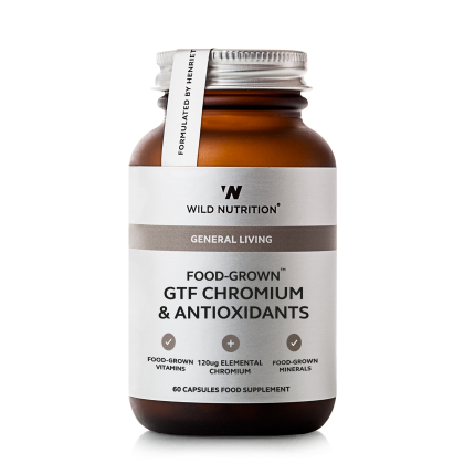Food Grown - GFT Krom med Antioksidanter - 60 kapsler - Wild Nutrition