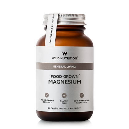 Food Grown - Magnesium - 60 kapsler - Wild Nutrition