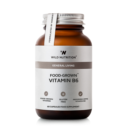 Food Grown - Vitamin B6 - 60 kapsler - Wild Nutrition
