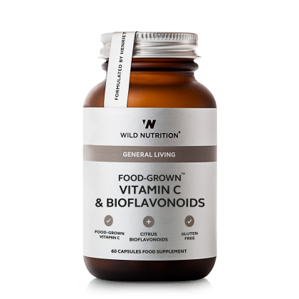 Food Grown - Vitamin C og Bioflavinoider - 60 kapsler - Wild Nutrition