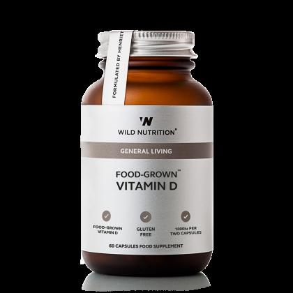 Abonnement - Food Grown - Vitamin D - 60 Kapsler - Wild Nutrition