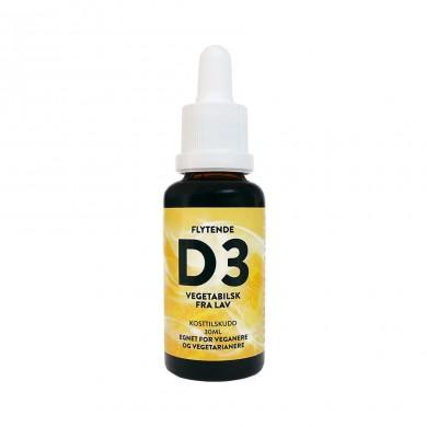 Vegansk D3 vitamin - Flytende - 30ml - 80ug