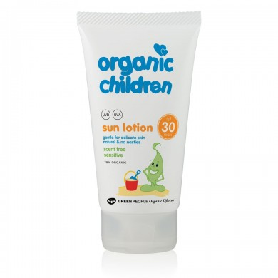 Solkrem for barn - luktfri faktor 30 - Organic Children - 150ml