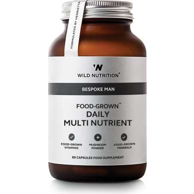Food Grown - Daily Multi Nutrient for menn – 90 kapsler - Wild Nutrition